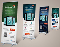 Mobile App Promotion Roll-up Banner Templates