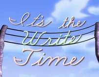 """It's the Write Time"" (sic)"