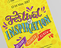 Visual style for Festival of Inspiration