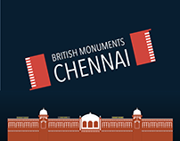 Chennai British Monuments - Flat Icons