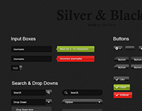 Silver & Black UI Kit