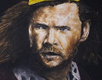 Drawing: Thor to oil pastel