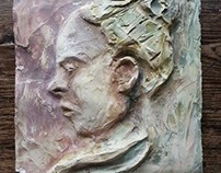 Face - sculpture/ relief