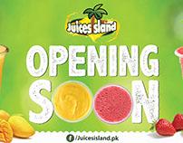 juice Island Opening Soon Banner