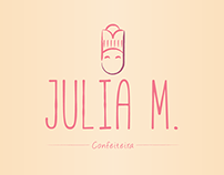 Julia M. - Confeiteira (Baker Logo)