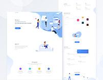 Wikaad Landing Page UI Design