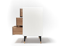 White dresser and oak