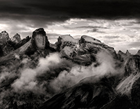 The power of triangles. Dolomites. Platinium print. #1