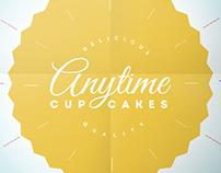 Anytime Cupcakes Logo/ Menu
