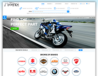 Landing Page for MOTOTECH: Spare Parts Website