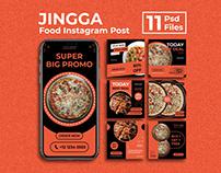 Jingga - Food Instagram Post and Stories