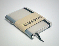 Project WasteNot - Upcycled Notebook made from trash