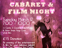 Cabaret & Film Night e-flyer