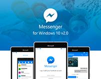 Facebook Messenger Windows 10 Concept v2.0