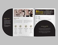 Minimal Folder Design with Insert Flyer.