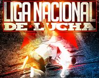 "Gráfica / Ilustración ""Liga Nacional de Lucha""."