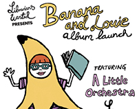 Banana and Louie album launch flyer
