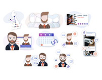 Virtual Assistant Illustrations