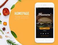 Flavours' - UI UX Design