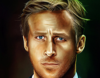 Ryan Gosling illustration 2013