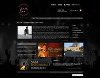 Sam music academy website mock up
