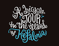Bicycle tour Lettering