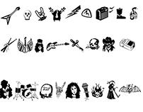 Digital Illustration - Dingbats - Metal music