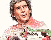 Ayrton Senna Illustration