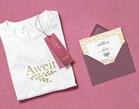 """Lodo and branding for women shop """"Aweit"""""""
