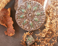 handmade jewelry made of polymer clay and other mater
