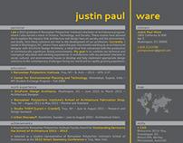 Justin Paul Ware | Resume 2013