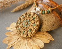 handmade jewelry made of polymer clay