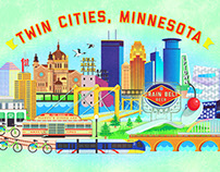 Twin Cities, Minnesota - Poster