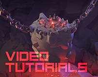 Low poly 3d Art - Video Tutorials / Speed Art