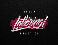 Brush lettering practice