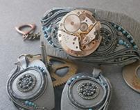 Bracelet Timekeeper-fantasy-steampunk jewelry-technolog