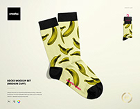 Socks Mockup Set (medium cuff)