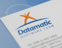 Corporate Identity and Interface Design for Datamatic