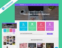 Web Template PSD Free