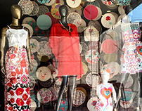a linha e o linho - coleção de estamparia e vitrinismo
