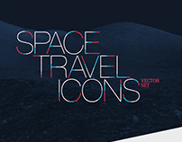 Space Travel Icons Set