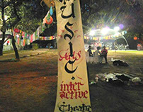 Live Calligraphy at October Fests in New Delhi, India.