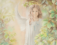 Angels. Pastels 2013