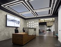 Interior photoshoot of Partner Construction office