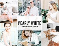 Free Pearly White Mobile & Desktop Lightroom Presets