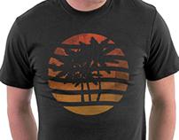 Palm Trees Grunge Sunset
