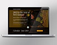 Neil Gaiman Calendar campaign website