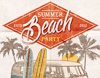 Summer Beach Surf Party Poster