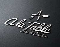 A La Table French Cuisine Logo Template