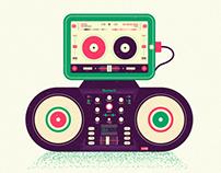 DJ set.